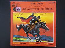 Livre Disque 45 T Zorro Walt Disney 2