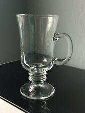 Large Retro Irish Coffee 200ml Wine Glass Mulled Mug Thick Cups with Handle