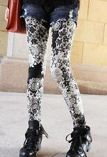 black & white lace print Leggings  Sizes 8-10 UK printed, faux, petite