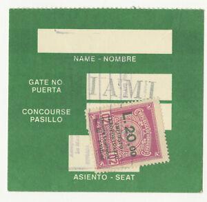 Honduras Airport Tax Revenue L. 20 overprint used on card