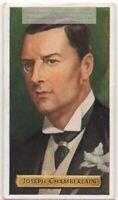 Joseph Chamberlain British Politician Social Reformer 80+ Y/O Trade Ad Card