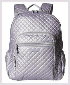 Vera Bradley Lavender Pearl ICONIC CAMPUS BACKPACK Pearl Shimmer Finish NWT $145