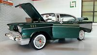 1:24 Scale 1957 Chevrolet Chevy Bel Air Hard Top Motormax Model Car 73228