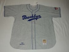 NWT AUTHENTIC MITCHELL AND NESS BABE HERMAN 1945 BROOKLYN DODGERS GRAY JERSEY 60