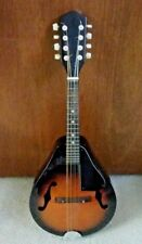 Vintage 1980s A-style Mandolin Made in Korea Solid Black Back Brown Front + Case