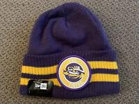 LSU Tigers New Era Knit Winter Beanie Hat Cap Adult OSFA NWT Purple