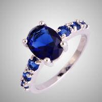 Amethyst Morganite Garnet Pink Topaz Gems Silver Ring Size L N P R T V Y Z Gifts