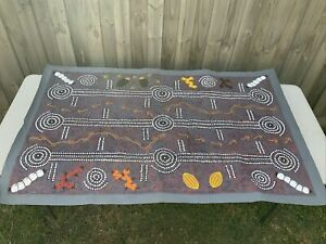 Large Aboriginal Dot Painting On Canvas; Not Mounted; Rosemary Egan Nampijinpa