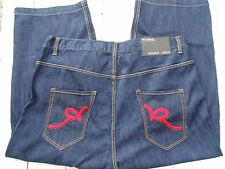 New Without Tags RocaWear Men's Jeans, Hip Hop, Baggy Size 44X27 (E64)