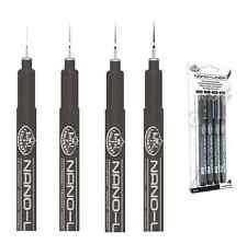 4 Tinta Negra Nano Fino trazadores de líneas de 0,1 0,2 0,3 0,5 mm Nibs Dibujo Plumas Set rd701