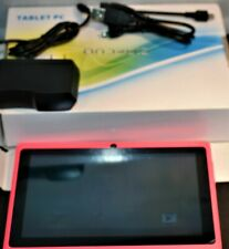 """MID Android Tablet Hot Pink 7"""" by 5"""" 4GB Computer eBook Gaming Networking"""