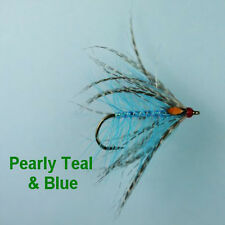 PEARLY TEAL & BLUE JC SEA TROUT FLIES size 8