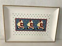 Vintage OTAGIRI Lacquerware Santa Claus/ Christmas Plate Tray Japan Made