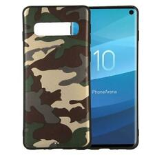 Samsung Galaxy S10 Handy Hülle Silikon Cover Case Handytasche Motiv Camouflage