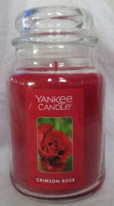 Yankee Candle Large Jar Candle 110-150 hrs 22 oz CRIMSON ROSE floral