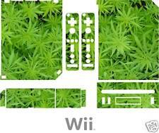 Nintendo WII plante de cannabis weed Peau Autocollant Decal royaume-uni