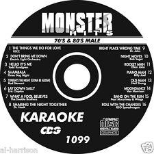 KARAOKE MONSTER HITS CD+G MALE 70's & 80's HITS #1099