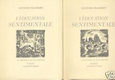 L'éducation Sentimentale, coffret de 2 Volumes, G. Flaubert, André Bonne