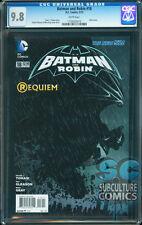 BATMAN AND ROBIN #18 - SILENT ISSUE - REQUIEM - CGC 9.8 - DEATH OF ROBIN - RARE