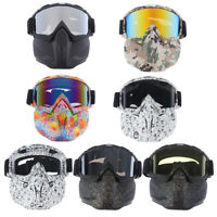 Winter Snow Sports Full Face Mask Goggles Ski Snowboard Snowmobile Skate Glas CJ