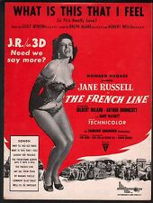 What is this That I Feel 1953 (The French Line) Jane Russell Sheet Music