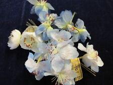 "Vintage Millinery Flower Collection Blue Ivory 2"" German H2905"