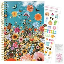 2021 Wildflowers Calendar Year Daily Planner Agenda 12 Month January - December