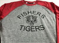 Fishers Tigers Long Sleeve Shirt Lightweight Sweatshirt Mens 2XL Indiana School