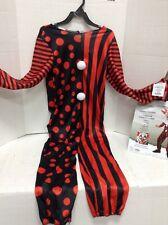 Kids Googly Clown Jester Jumpsuit Only Halloween Costume Boys Medium 8-10