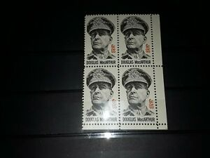 United States of America Stamps.  Douglas MacArthur. Block of 4 mnh stamps.  VGC