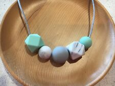 Silicone Sensory (was teething) Necklace for Mum Jewellery Beads Aus Gift Minty