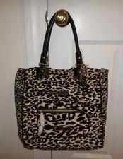NWT Juicy Couture LEOPARD Velour Tote Bag BEIGE & BLACK MULTI YHRUS145