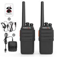 2Pack Radioddity R2 PMR446 Walkie Talkie VOX Squelch Ricetrasmittente + Earpiece