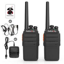 2* Radioddity R2 PMR446 Walkie Talkies w/ VOX Scan Emisora Transceptor + Headset