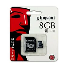 8GB KINGSTON Micro SD SDHC SD Memory Card Class 4 45MB/s 8GB With Adapter