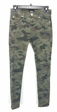 Hudson Womens Nico Super Skinny Jeans 25 Green Camo Mid Rise Ankle