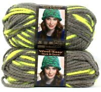 2 Lion Brand Wool-Ease Thick & Quick 6 Super Bulky 510 Toucan Washable Yarns