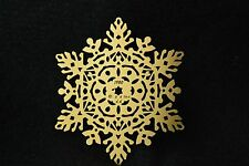 Snowflake #23 Brass Ornament by Kristin Kjorlaug