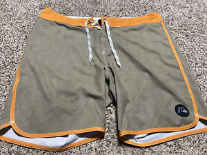QUIKSILVER AG47 DRY FLIGHT BOARD SHORTS SWIM SUIT MEN'S SIZE 34