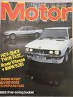 Motor Magazine - 2 April 1983 - Rover Vitesse v BMW 528i, Renault 11, Long Beach