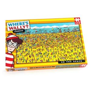 WHERE'S WALLY 100 - 250 PIECES PUZZLE Beach Sea Town Jurassic Dinossaurs Kids