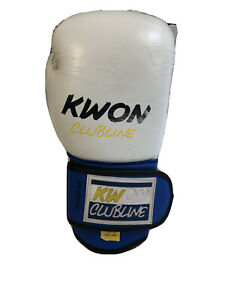 Original Kwon Clubline White Genuine Leather Boxing Only Single Right Glove 12oz