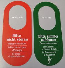 20x Türschild Hotelschild Bitte nicht stören/Zimmer aufräumen Türhänger aus PVC