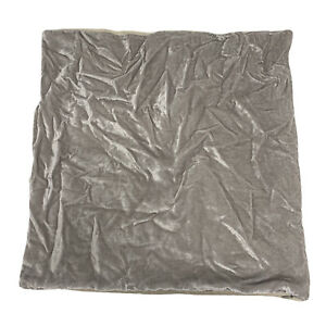 "West Elm Lush Velvet Pillow Cover Platinum 20""x20"" NEW w/o tags"
