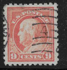 US Scott #471, Single 1916 Benjamin Franklin 9c VF Used