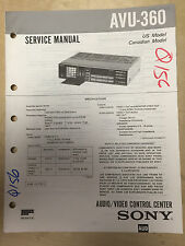 Sony Service Manual for the AVU-360 Audio/Video Control Center ~ Repair mp