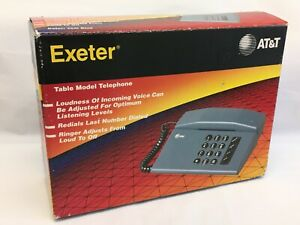 AT&T Exeter Desk Table Model Analog Telephone Teal Vintage 1993 Complete New NOS