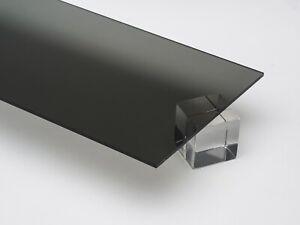"Acrylic Grey Tinted Plexiglass 1/8"" x 7"" x 34"" Plastic Sheet #2064"