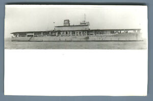 HMS Eagle battleship Aircraft Carrier Military RPPC Photo Postcard British Navy