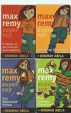 4 x pbs - Deborah Abela - Max Remy Super Spy #1, #2,#3, #5  see below for titles